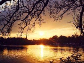 Sonnenuntergang Alster