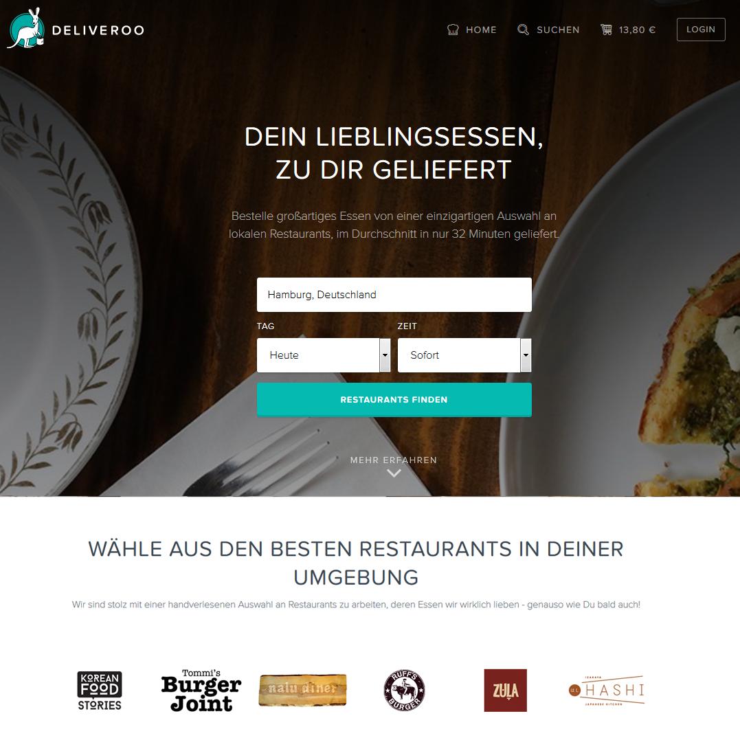 Deliveroo Premium Lieferservice Online Essen bestellen