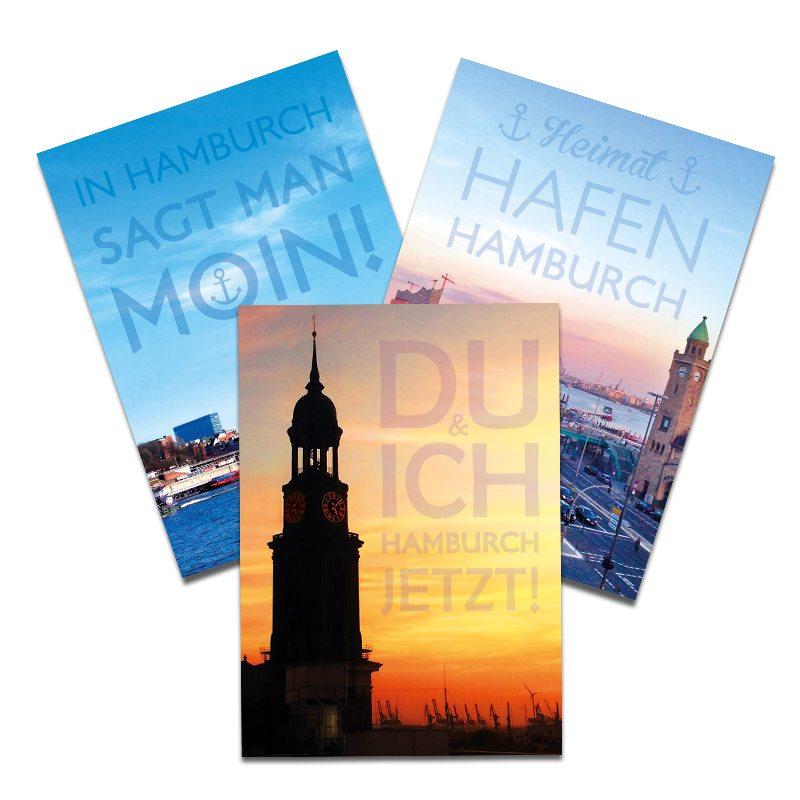 postkarten typisch hamburg