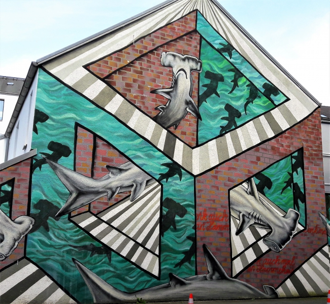 Hammer Hai Streetart Hamburg Ottensen