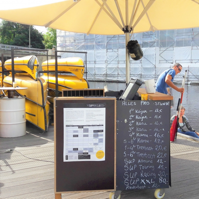 Preise Kajak Kanu Tretboot SUP Supper Club Hamburg