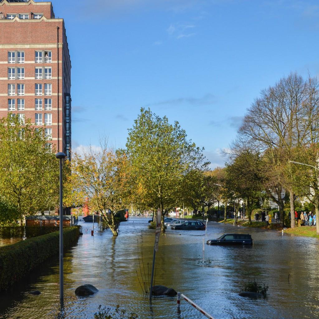 Sturmtief in Hamburch