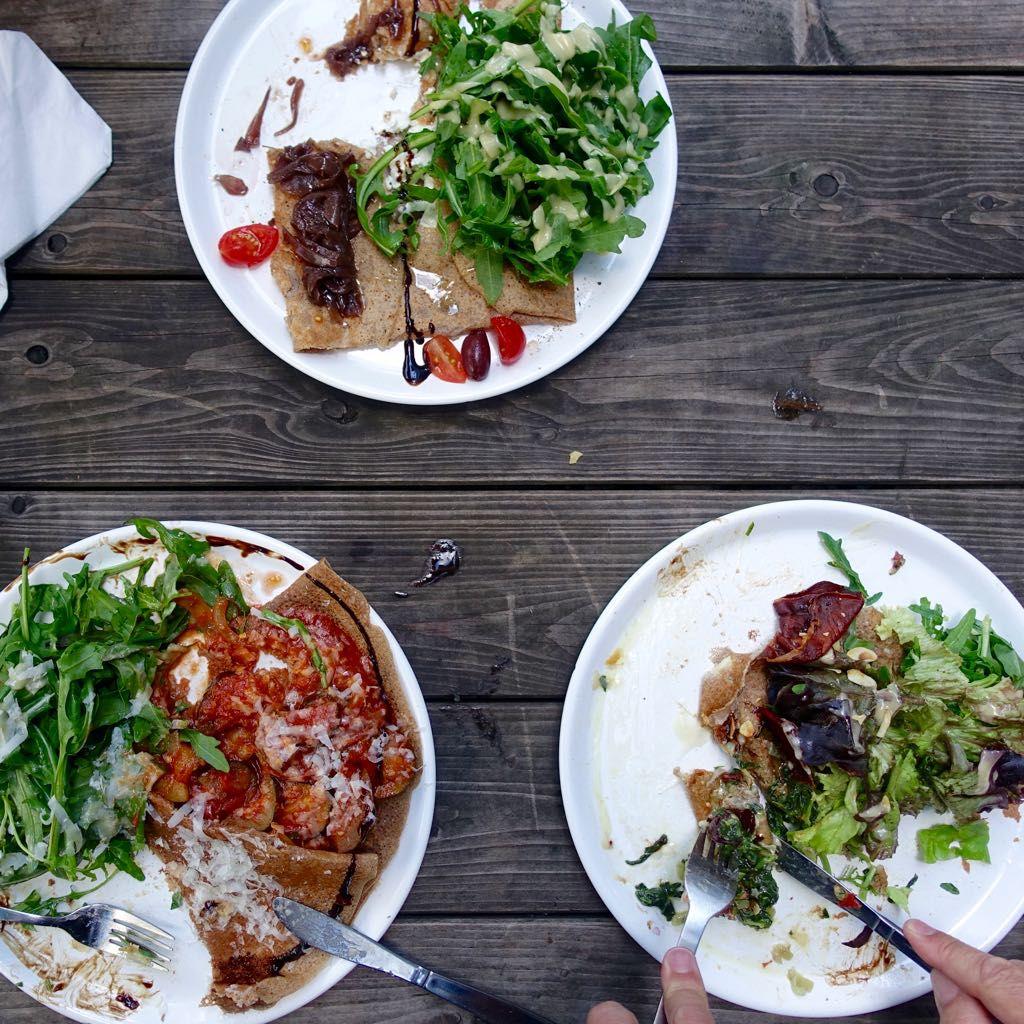 Bretonische Küche - Galettes bei Bistro Tati