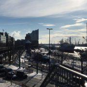 Aussicht im März in Hamburg