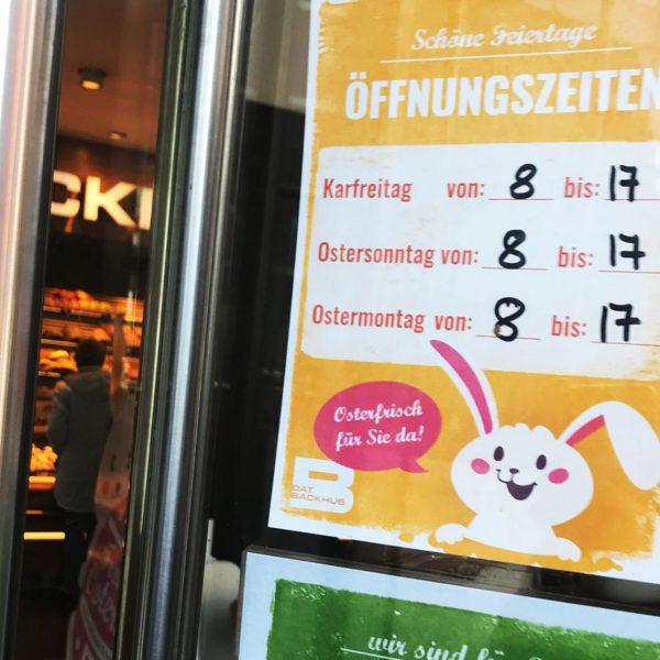 Dat Backhus Öffnungszeiten an Ostern