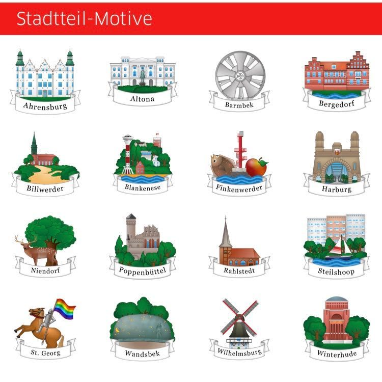 Hamburg kostenlose Emojis App