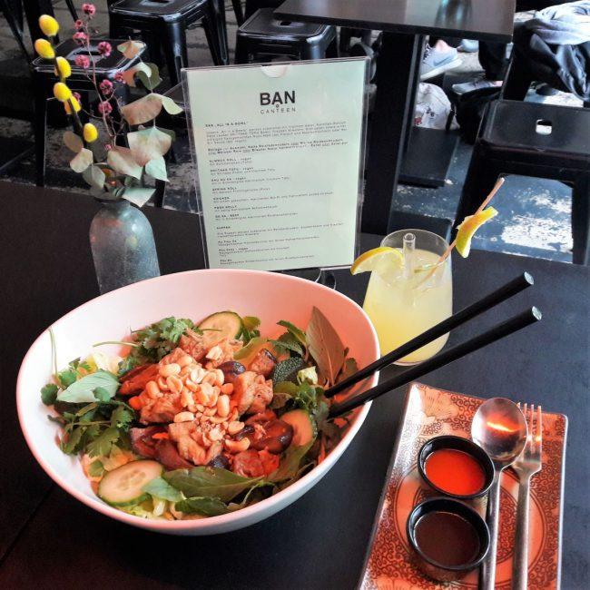 vegane Vietnamesische BAN Bowl in der BAN CANTEEN Hamburg Schanzenviertel