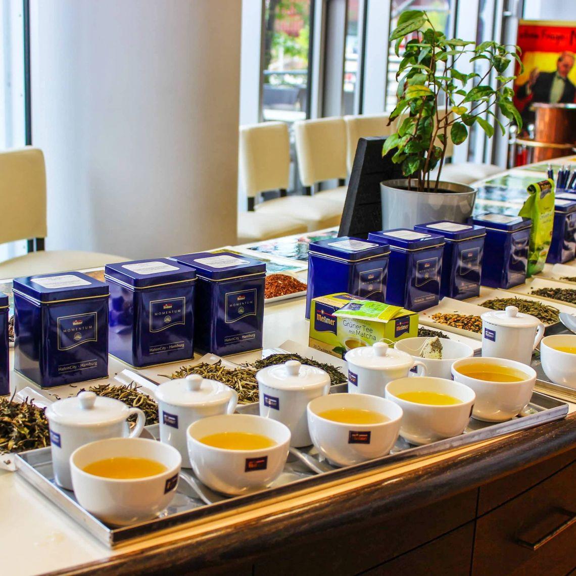 Wir hatten die Möglichkeit verschiedene Tee-Sorten zu probieren