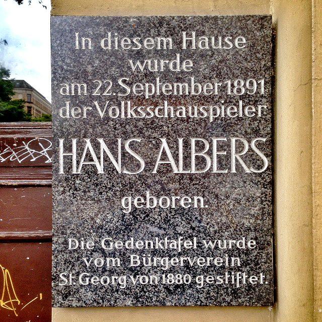 Hans Albers Geburtshaus Lange Reihe 71