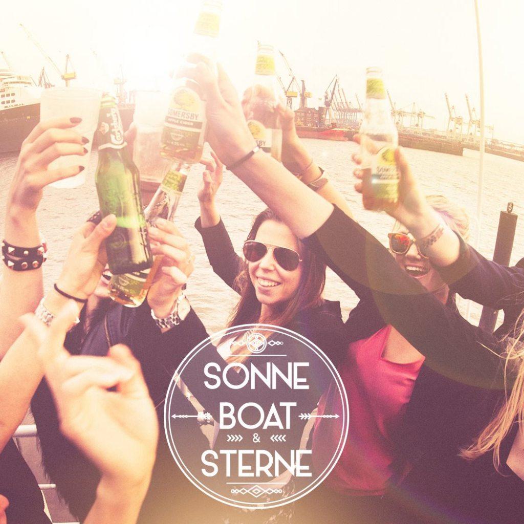 Sonne Boat und Sterne