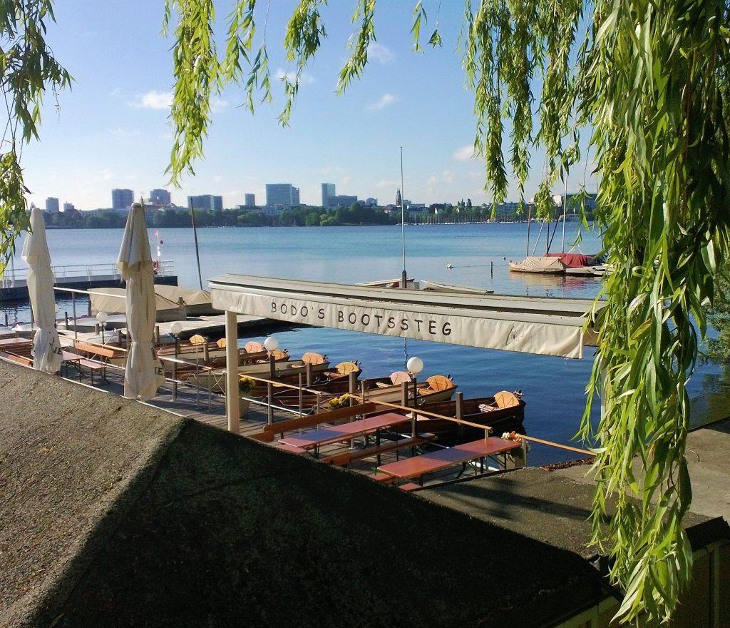 Bodos Bootssteg Alster Hamburg