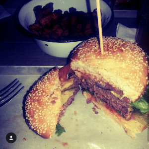 Beef Burger in der Brooklyn Burger Bar