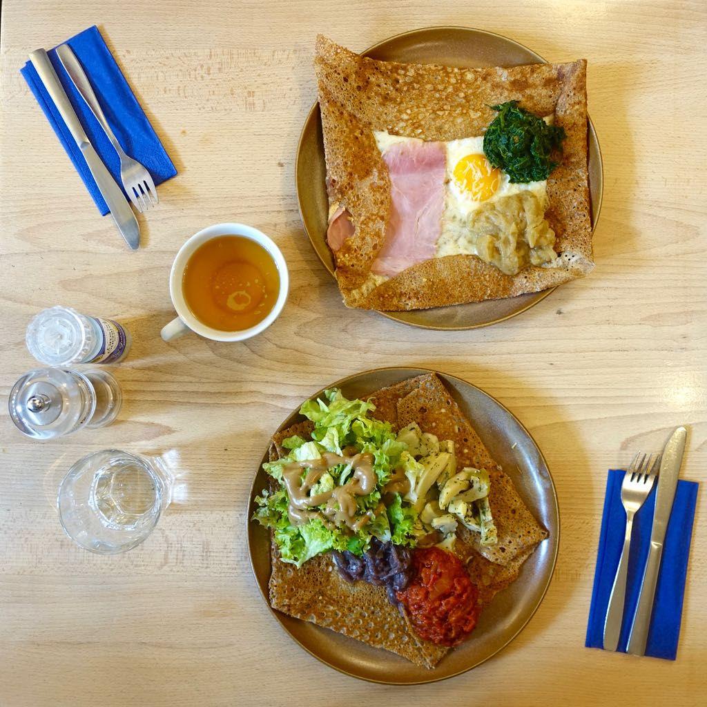 Bretonische Küche - Galettes bei Ti Breizh