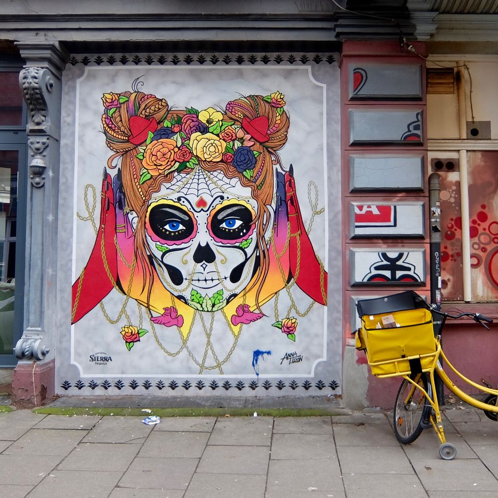 Mexico Frau, Street Art in Hamburg