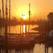 Finkenwerder Kutterhafen Sonnenaufgang
