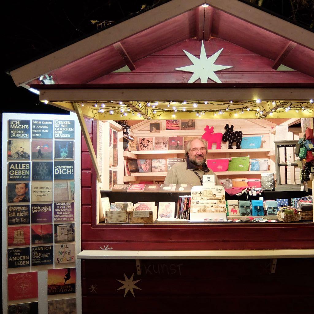 Verkaufsstand, Weihnachtsmarkt an der Apostelkirche