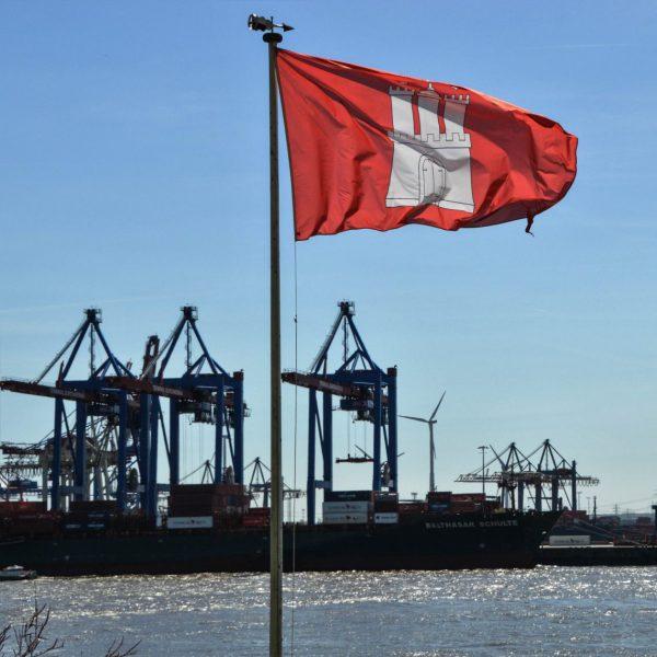 Hamburchs Fahne