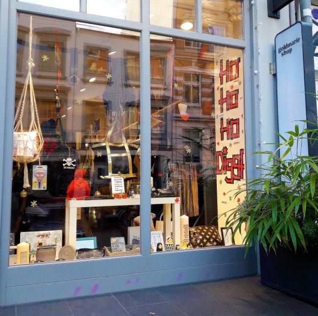 Weihnachtsgeschenke im Goldmarie Shop Hamburg Marktstraße Karoviertel