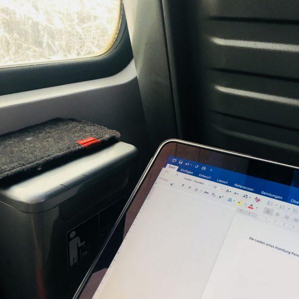 Leiden eines Pendlers - oder...? Viel Zeit zum Schreiben im Zug