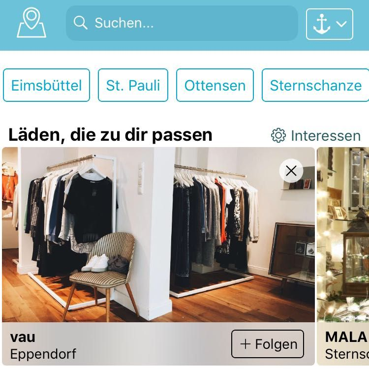 Findeling lokale Shopping App Hamburga