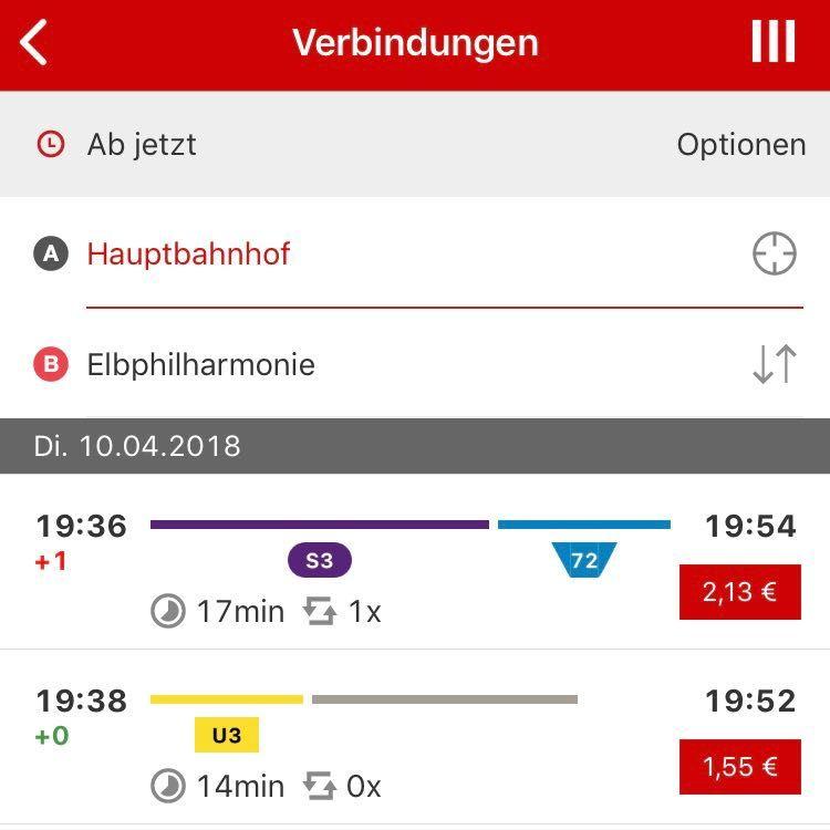 HVV App kostenlose Hamburg