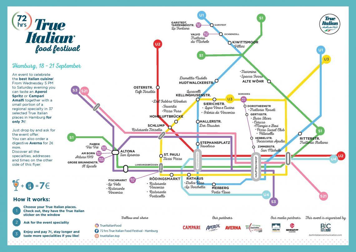 U-Bahn-Fahrplan - 72 hrs True Italien Food Festival Hamburg